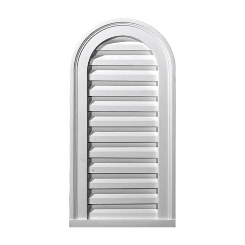 Restorers Architectural 14 Inch Cathedral Top Urethane Decorative Gable Vent