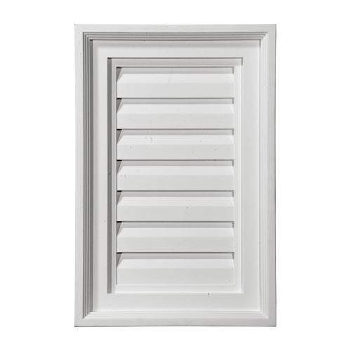 Restorers Architectural 15 Inch Vertical Rectangle Urethane Functional Gable Vent