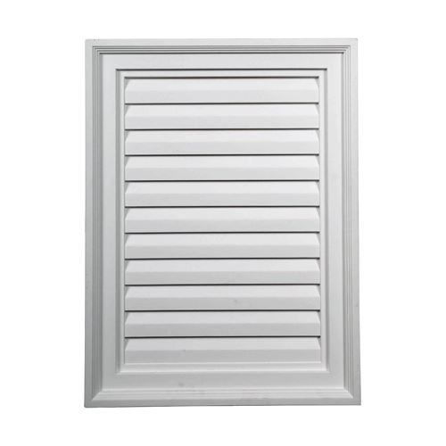 Restorers Architectural 18 Inch Vertical Rectangle Urethane Functional Gable Vent