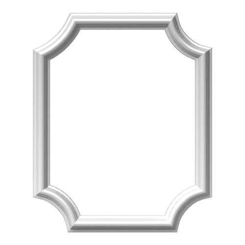 Restorers Architectural Ashford Scalloped 16 Inch Frame Wall Panel ...