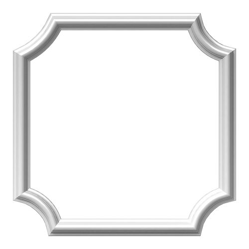 Restorers Architectural Ashford Scalloped 20 Inch Urethane Picture Frame Wall Panel