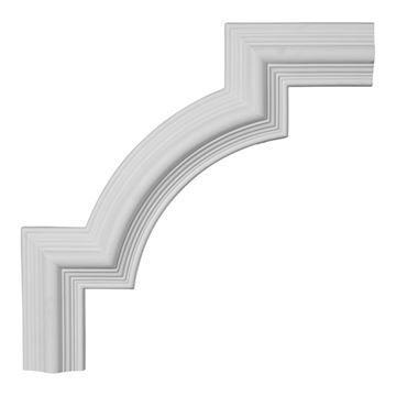 Restorers Architectural Bedford Stepped Corner Urethane Panel Molding