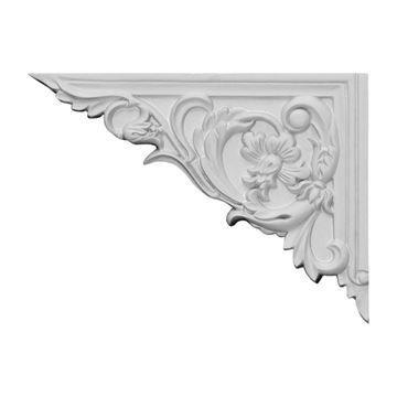 Restorers Architectural Flower Urethane Stair Bracket