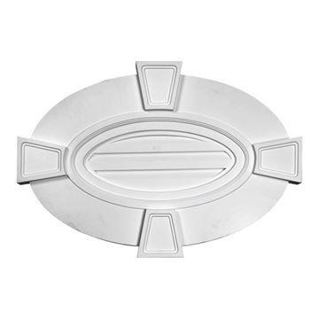 Restorers Architectural Keystone Vertical Oval Urethane Decorative Gable Vent