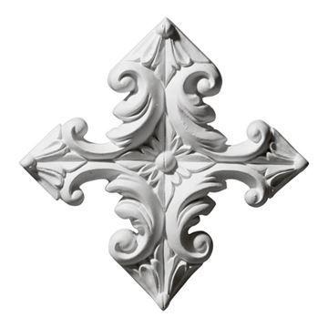 Restorers Architectural Star Diamond Urethane Onlay Applique