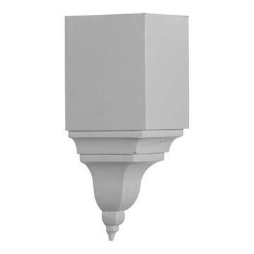 Restorers Architectural Universal Large Finial Urethane Inside Molding Corner