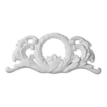 Restorers Architectural Wreath Center Urethane Onlay Applique