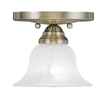 Livex Lighting Edgemont 1 Light Flush Ceiling Mount