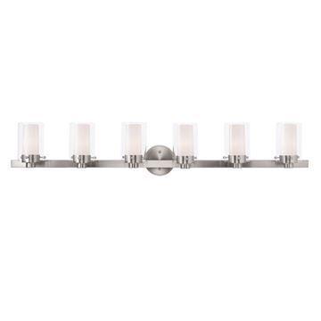 Livex lighting manhattan 6 light vanity light van dykes restorers livex lighting manhattan 6 light vanity light aloadofball Gallery