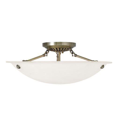 Livex Lighting Oasis 20 Inch Semi Flush Ceiling Mount Light