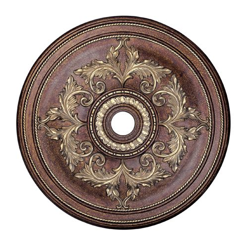 Livex Lighting Prefinished 40 1/2 Inch Acanthus Ceiling Medallion
