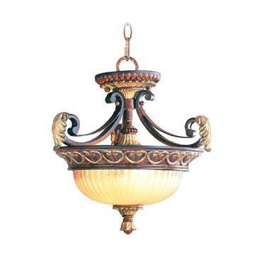 Livex Lighting Villa Verona Convertible 15 1/4 Inch Chain Or Semi Flush Light