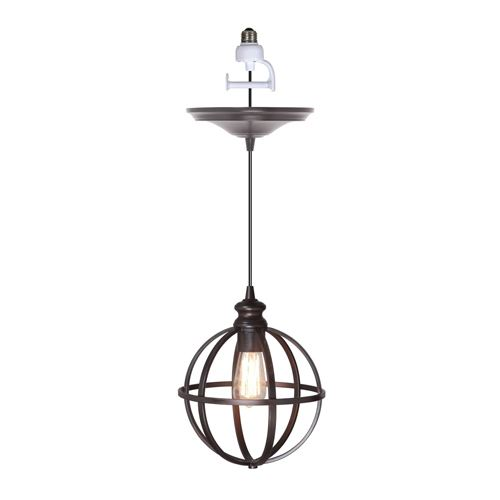 Worth home instant pendant light with 8 inch cage shade aloadofball Choice Image