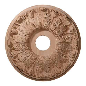 Restorers Architectural 24 Inch Florentine Wooden Ceiling Medallion