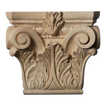 Restorers Architectural 8 3/8 Inch Floral Roman Corinthian Capital