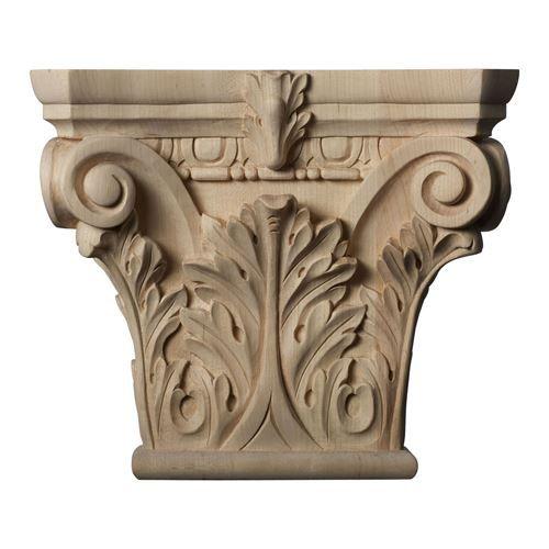 Restorers Architectural 9 5/8 Inch Floral Roman Corinthian Capital