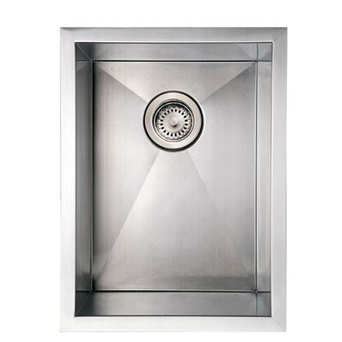 Whitehaus Noah 15 Inch Stainless Single Bowl Undermount Kitchen Sink ...