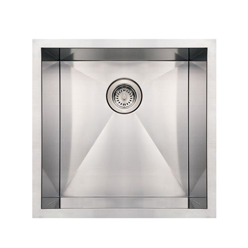Whitehaus Noah 19 Inch Stainless Single Bowl Undermount Kitchen Sink ...