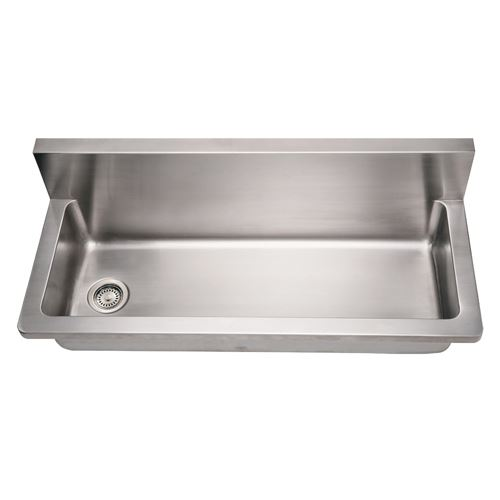 whitehaus noah 44 inch stainless single bowl wall mount utility sink - Stainless Utility Sink