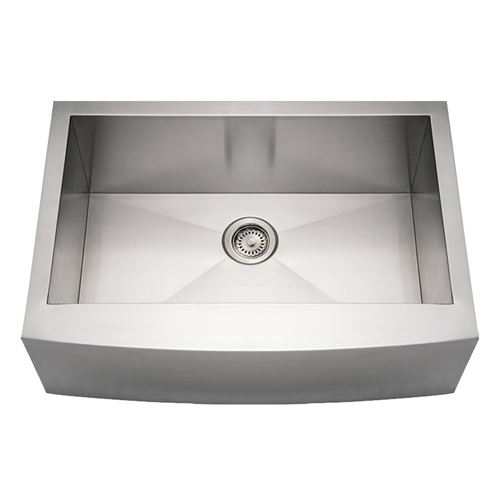 Whitehaus Noah Stainless Arched Apron Single Bowl Kitchen Sink | Van ...
