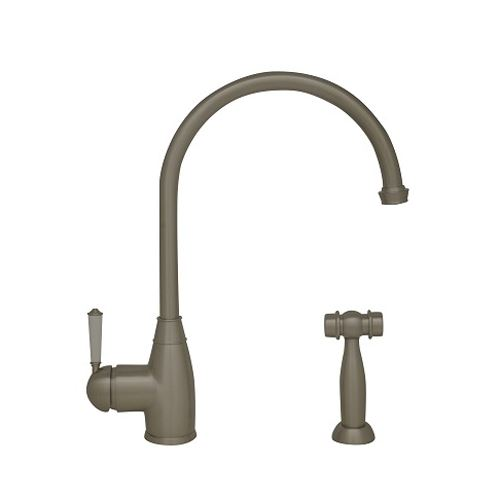 Whitehaus Queenhaus Single Hole Gooseneck Kitchen Faucet U0026 Sprayer