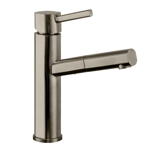 Whitehaus Waterhaus Straight Kitchen Faucet With Pull Out Sprayer