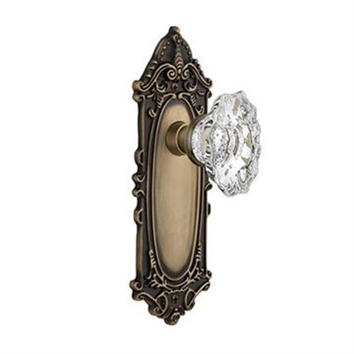 Nostalgic Warehouse Victorian Plate Door Set With Chateau Knobs