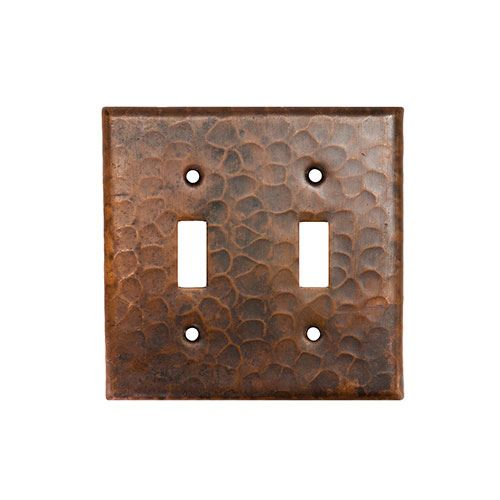 Premier Copper Double Toggle Switchplate