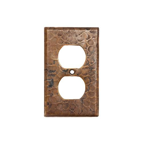 Premier Copper Duplex Switchplate