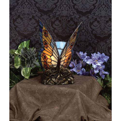 Quoizel Tf6599r Butterfly Tiffany Accent Lamp