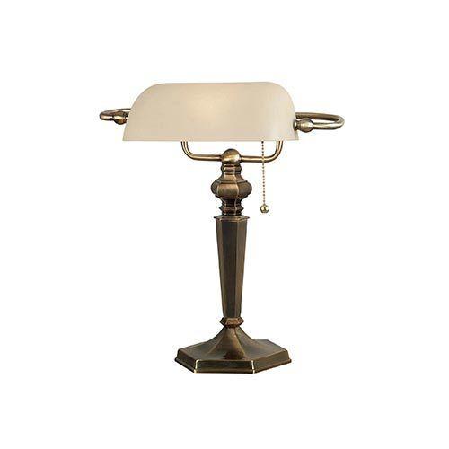 Kenroy Home 20615gbrz Mackinley Banker Lamp - Golden Bronze