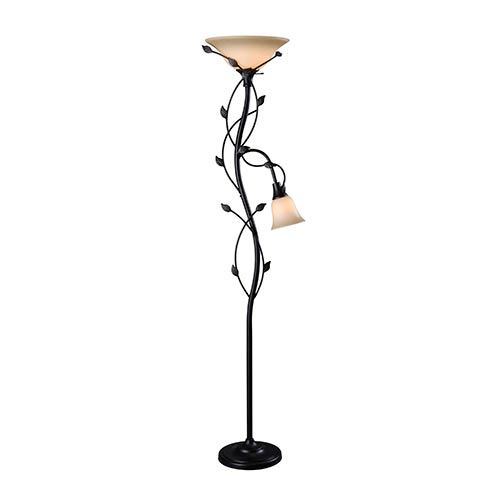 Kenroy Home 32241ORB Ashlen Mother & Son Torchiere - Oil Rubbed Bronze