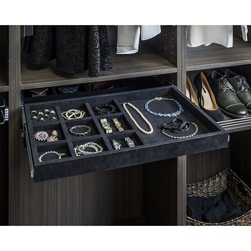 Restorers Jewelry Organizer with Ring Holders - 10 compartment