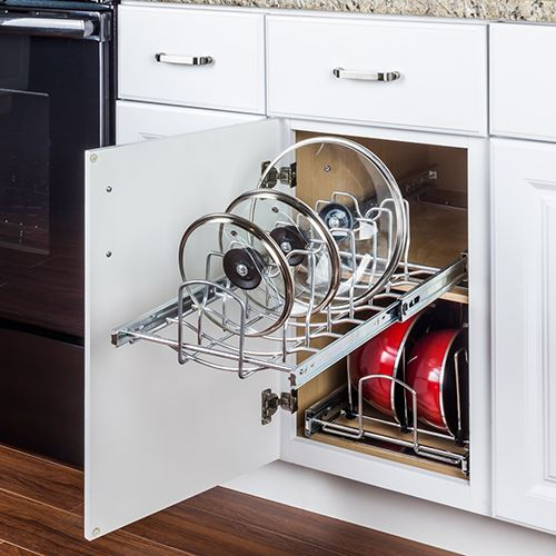 Pots And Pans Lid Organizer Pullout