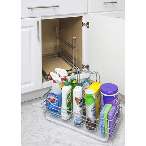 Elements 11-Minute Removable Cleaning Supply Caddy & Pullout