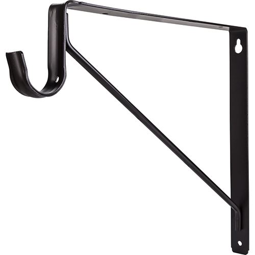 Restorers Shelf & Rod Support Bracket For Round Closet Rods
