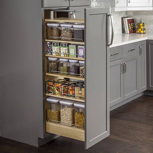 Charming Restorers Wood Pantry Cabinet Pullout   6 Inch Opening