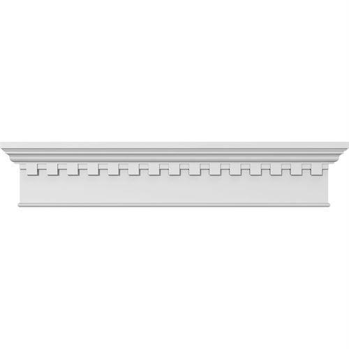 Restorers Architectural 7 1/4 Inch Traditional Crosshead - Dentil Trim
