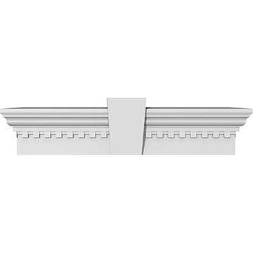 Restorers Architectural 9 Inch Crosshead With Flat Keystone & Dentil