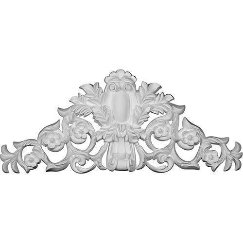 Restorers Architectural Gladstone Flower Urethane Onlay Applique