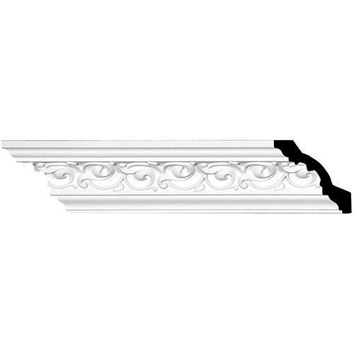 Restorers Architectural Versailles 3 3/8 Inch Urethane Crown Molding