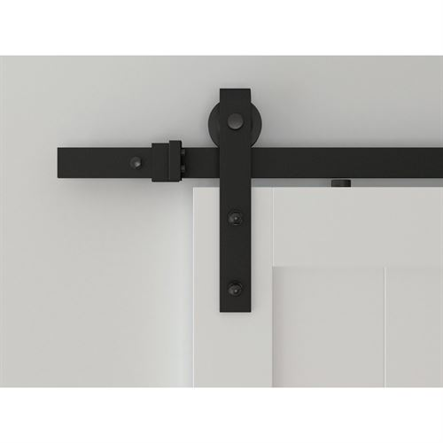 Designer Collection Hook Strap Rolling Barn Door Hardware Kit Van