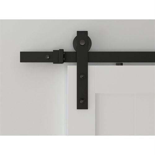 Designer Collection Hook Strap Rolling Barn Door Hardware Kit