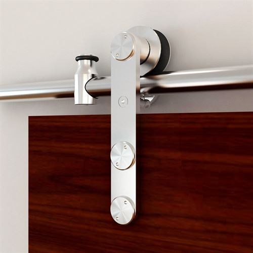 Designer Collection Strap Rolling Hardware Kit For Wood Or Glass Door