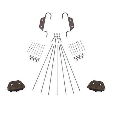 Quiet Glide Double Hook Non-Skid 16 Inch Ladder Hardware Kit