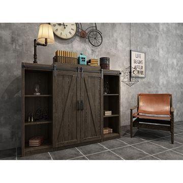 Quiet Glide Horseshoe Mini Double Barn Door Furniture Hardware Kit