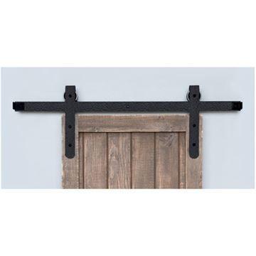 Acorn Rough Round End Rolling Barn Door Hardware Kit