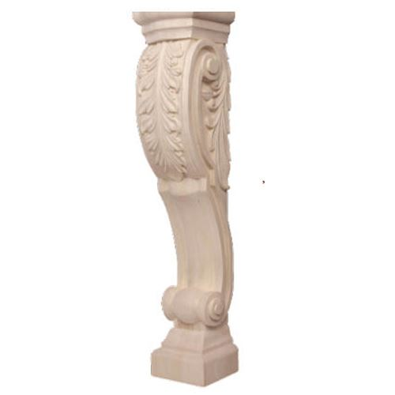 Legacy Artisan 36 Inch Acanthus Scroll Island Leg