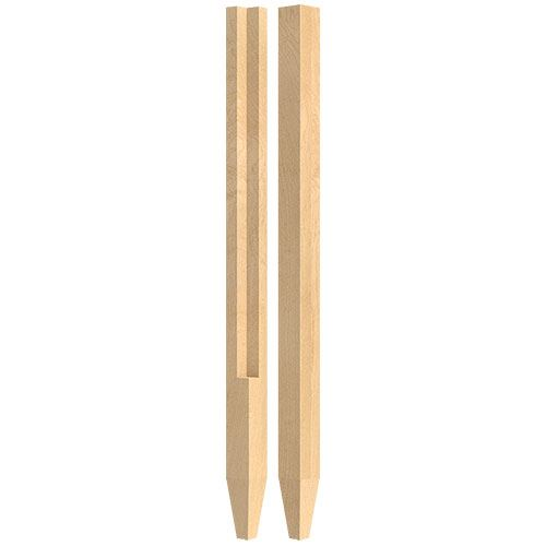 Designs of Distinction 2 Inch Square 34 1/4 Inch Notch & Tapered Leg