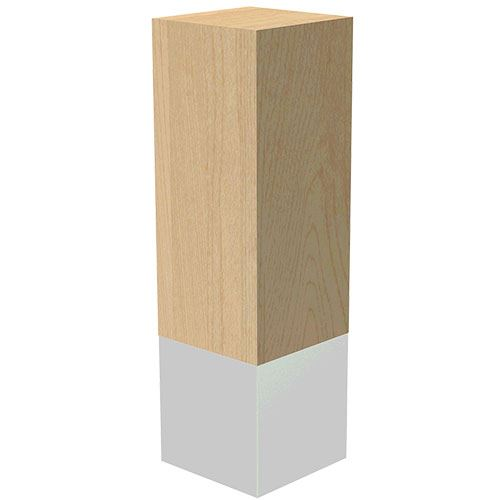 Designs of Distinction 3 x 10 Inch Leg with Natural Aluminum Sleeve